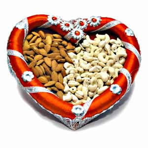 Dry Fruits in Heart Shape