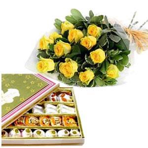 Haldiram Sweets & 12 Roses
