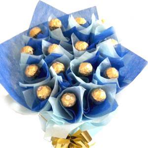 Classy Blue Ferrero Rocher bouquet