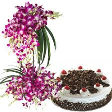 Kookie Jar cake And Orchids Basket