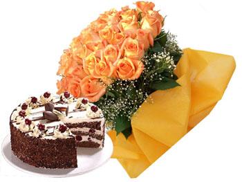 Kookie Jar cake & Flowers E