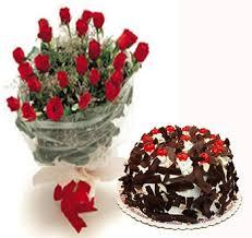 Kookie Jar cake and Flowers H
