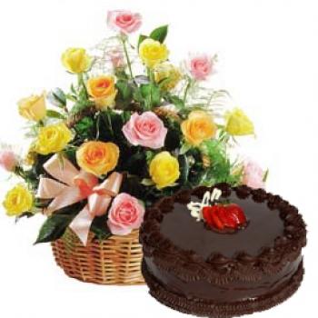 Kookie Jar cake & Flowers J