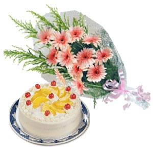 Kookie Jar cake & Flowers D