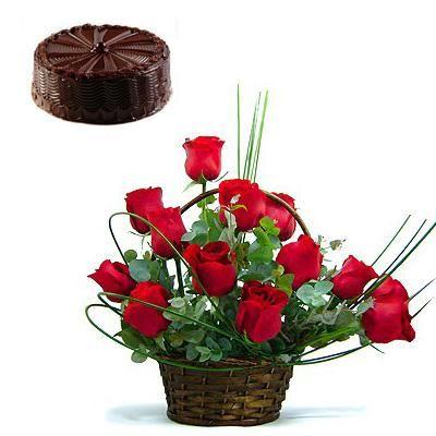 Kookie Jar cake & Flowers C