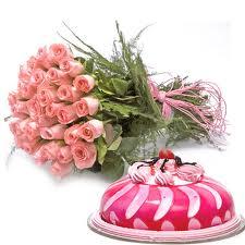 Taj cake & Roses