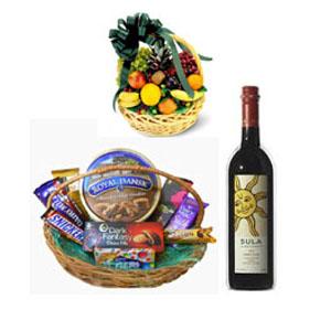 Chocolate, Fruits , Wine