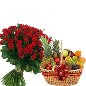 Roses With Fruits