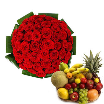 Red Roses & Fruits