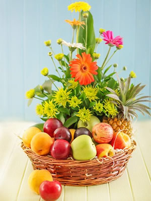 Fruits and Sun Flowers