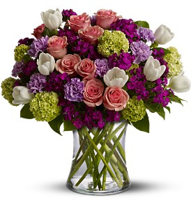Artificial Mixed Flowers Vase