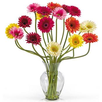 Artificial Gerbears Vase