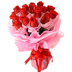 Artificial Red Roses Bunch
