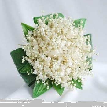 Artificial White Orchids bunch