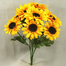 Artificial Yellow Sunflowers Small