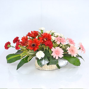 Oval Mixed Flower Basket