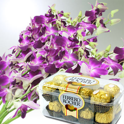Orchids with Rocher