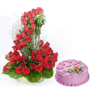 All Red Roses & Cake
