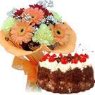 Cake & Gerberas