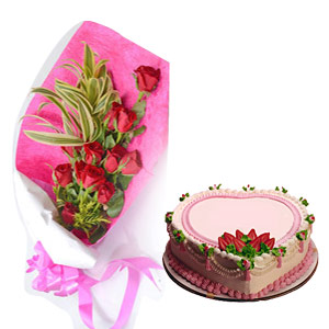 Nice Roses with Cake