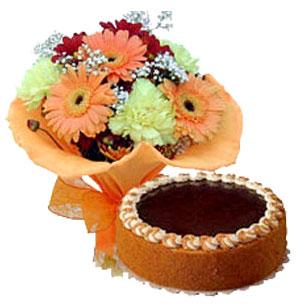 Gerbera & Cake