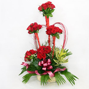 60 Red Roses Arrangement