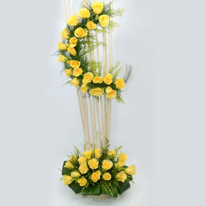 Amazing Arrangement with Yellow Roses