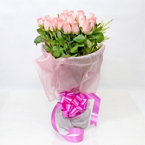 Gorgeous Pink Roses Bunch