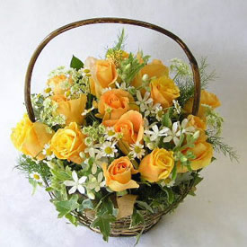 Spellbounding Rose Basket
