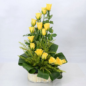 Bright Yellow Roses