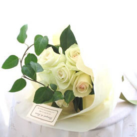 Sophisticated White Roses Bouquet