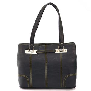Black Artificial Leather Bag