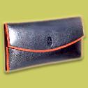 Leather purse ( Black )