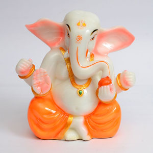 China Clay Dust Ganesha Idol