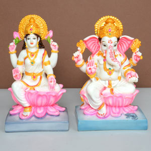 China Clay Laxmi Ganesh Idols