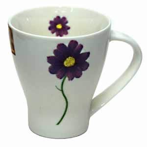 Flower Print Coffee Cup 1 Pcs
