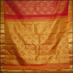 Exclusive Dark Pink color kanjeevaram silk saree
