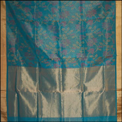 Exclusive Green Color Pure silk Saree