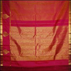 Exclusive Pink color kanjeevaram silk saree