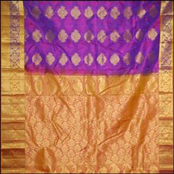 Violet color kanjeevaram silk Saree