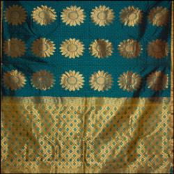 Mixedgreen color kanjeevaram silk Saree