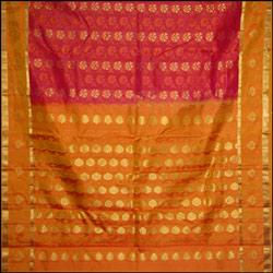 Pink color kanjeevaram silk