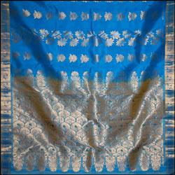 Anandablue color kanjeevaram silk saree