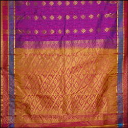 Majenta color kanjeevaram silk