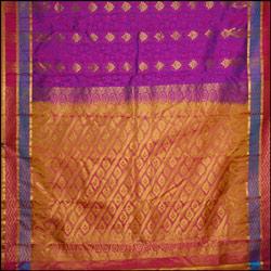 Majenta color kanjeevaram silk