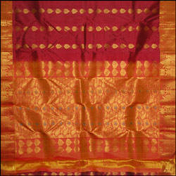 Maroon color kanjeevaram silk Saree