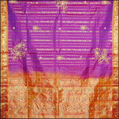 Parple kanjeevaram silk saree