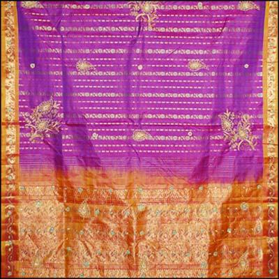 Parple kanjeevaram silk saree