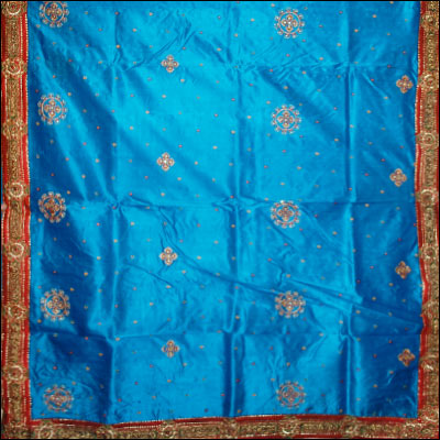 Anandablue Pure Silk saree