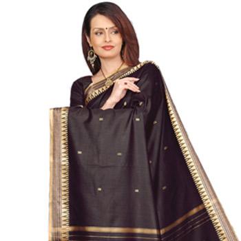 Black Pure Silk